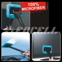 Encell Car Wash Brush Microfiber Cloth Windshield Wash Glass Wiper Cleaning Tool Sigma Brushes Window Handle Cleaner