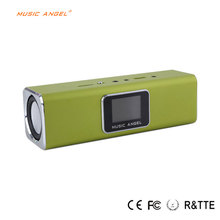 Promotion resonance speaker commercial Music Angel MAUK5 Built-in Battary LED Screen Portable Speaker with FM radio USB/TF Card(China)