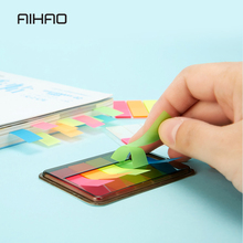 AIHAO Fluorescence Sticky note Kawaii Bookmarks design memo pad lovely Novelty sticky note Office material memos notes supplies