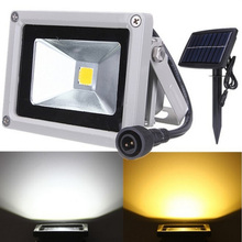 New LED Flat Panel Flood Light 10w Outdoor Lamp Solar Energy Projecting Light Warm Light Projection Light