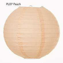 10inch=25cm 10pcs/lot Peach Japanese Round Paper Lantern Hanging Marriage Decorations Birthday Outdoor/indoor Party Decor
