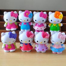 8pcs/lot 7cm Anime Cartoon HELLO KITTY Figures Kitty PVC Action Figures Toys Model Dolls Best Kids Gifts(China)