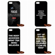 keep fit quotes Cell Phone Case Cover For iPhone SE 4 4S 5S 5 5C 6 6S Plus Samsung Galaxy S2 S3 S4 S5 MINI S6 S7 Edge Note 3 4 5