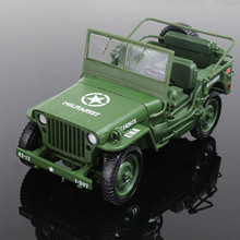 Alloy 1:18 Tactical Military Model Jeeps Old World War II Willis Military Vehicles Childen Toy