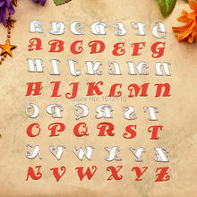 English Alphabet letter A-Z Metal Die cutting Dies For DIY Scrapbooking Photo Album Decorative Embossing Folder Die Cut 662230