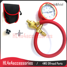 4x4 accessories brass Rapid Tire Deflator BAG tire gauge tyre gauge set Tyre Deflator Air Deflators Pressure Gauge Valve Tool(China)