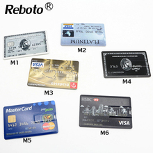 Multifarious USB Flash Drive Bank Credit Card Shape Pen drive 64gb 32gb  Memory Stick 4gb 8gb 16gb real capacity pendrive u disk