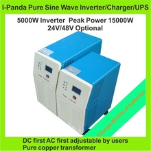 CE RoHS 5000W Pure Sine Wave Inverter With Battery Charge And UPS,DC 24V/48V AC100V/110V/220V/230V/240V grid tie inverter