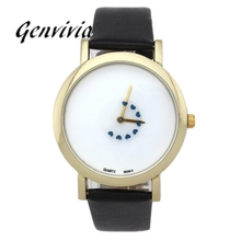 20mm to 29mm Fashion Girl Women Heart Turntable Second Hand Leather Band Analog Quartz Dial Watch HOT(China)