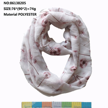 2015 New Women White Dandelion Infinity Fashion Women Flower Loop Shawls Women Dandelion Rings Scarves Free Shipping