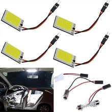 31mm-41mm Super White COB 18SMD LED Panel Lamp Auto Car Interior Reading Plate Light Roof Ceiling Interior Wired Lamp T10