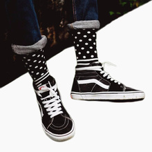 CHAOZHU New Arrival Cool Skateboard Hip Hop Dots Stripes Patchwork Pattern Fashion Brand Happy Socks Men Boys Male(China)