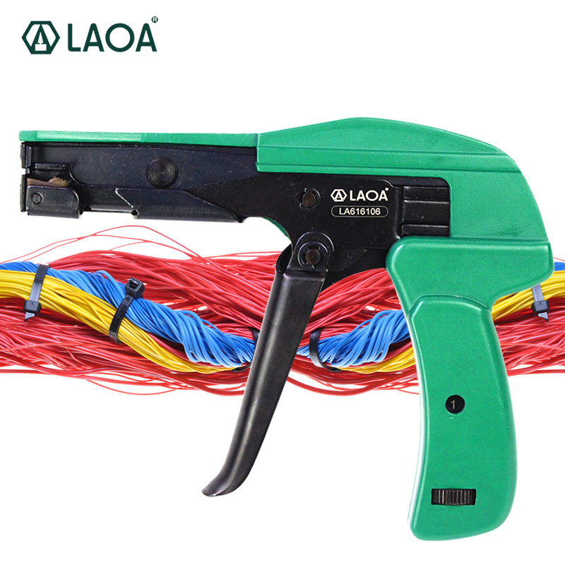 LAOA Cable Ties Gun For Cable Ties Fastening Tool Cutting Tools2.2-4.8MM For Assemble Line <br>