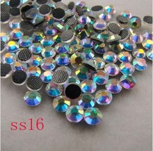 (3.8-4.0mm) SS16 200gross/28800pcs crystal hot fix rhinestones , garment hot fix products free shipping(China)