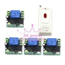 DC 12V 1 CH Relay Receiver Wireless Remote Control Switch 315/433.92 RF Radio Frequency Learning Momentary Toggle Latched