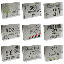 Personalized Modern House Number Door Sign Plaque Street Acrylic Matte Glass TOP(China)