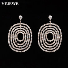 YFJEWE Women Exaggerated Fingerprint Circle Rhinestone Earrings Fashion  Crystal Drop Earrings Boucle D oreille Femme E600. US  1.97   Pair Free  Shipping fa1e55f8e520