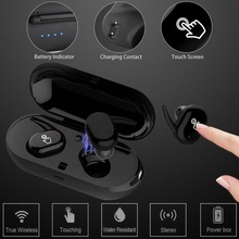 BOAS TWS Twins Wireless Bluetooth Earphones Waterproof Hands free with Mic Touch Control Stereo Headset Charging Box for phone(China)