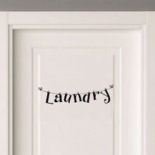 Personality Laundry Room Vinyl Door Sticker Funny Home Decoration Accessories Wall Sticker A2238(China)