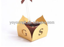 Personalized fancy white lace wrapper, small chocolate boxes with customized logo