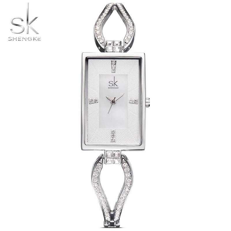 SK New Womens Fashion Diamond Wrist Watches Top Luxury Brand Square Ladies Elegant Geneva Quartz Clock Female Wristwatch 2017<br>