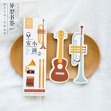 30 pcs/pack Musical instruments Bookmark Paper Cartoon Bookmark Promotional Gift Stationery Film Bookmark(China)