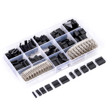 620pcs Dupont Wire Cable Jumper Pin Header Connector Housing Kit Male Crimp Pins+Female Pin Connector Terminal Pitch With Box