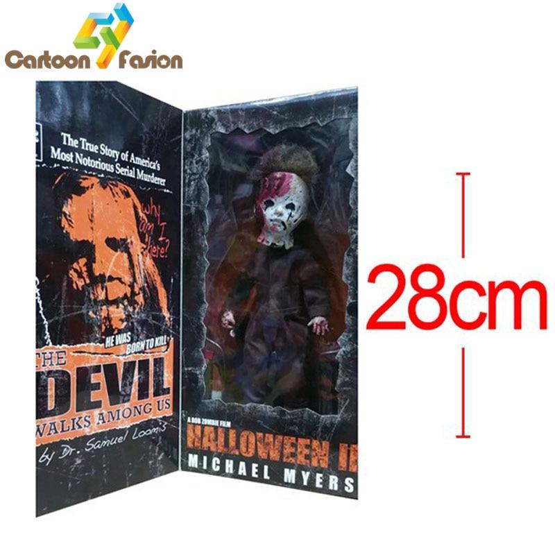 Living Dead Dolls Halloween2 Killer Michael Myers Kid Version Classic Rob Zombie Horror Film Mezco Action Figures Brinquedos<br><br>Aliexpress