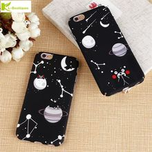 KL-Boutiques Slim Case For iPhone 6 6S Plus 7 7Plus Phone Cases Cartoon Bear Star Constellation Meteor Planet Frosted Hard Cover