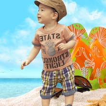 Summer baby boys clothes suit Baby t-shirt short pant set 100% cotton Infant tees shirts bebe clothing