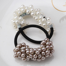 Girls Gum for Hair Female Hair Accessories Semi-circle Beads Pearl Hairbands Girls Ponytail Rubber Rope Women Elastic Hair Bands