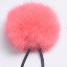 2017 New Women Girls 8cm Soft Furry Hair Ties Ball Rope Hair Band Pom Poms Accessories