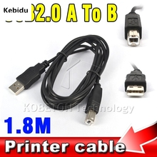 Kebidu 1.8M USB 2.0 A to B Male Adapter Data Cable for Epson Canon Sharp HP Type B Printer Scanner Extension Wire Cord(China)