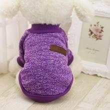MUQGEW Cute Lovely  Charming 8 Color Pet Dog Puppy Classic Sweater Fleece Sweater Clothes Warm Sweater Winter Dog Clothes