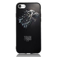 Game of Stark Winter is Coming Thrones Cool For iPhone 4s 5s SE 6 6s 7 8 Plus X Case TPU Phone Cases Cover Mobile Decor Gift