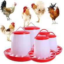 1KG 3KG 6KG Chicken Bucket Duck Goose Fodder Barrel Bird Automatic Feeding Cup Farming Tool Complete Models More Choice(China)