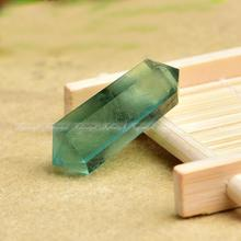 Wholesale 1PC Beautiful Natural Green Fluorite Quartz Crystal Wand Double Point Healing natural crystal