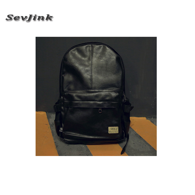Brand leather backpack fashion black leather mens backpacks preppy style brown men backpack bolsas mochila feminina<br><br>Aliexpress