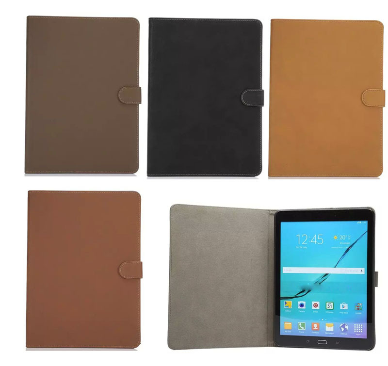 Retro fashion business style matte Manget Folio Stand PU Leather Cover For Samsung Galaxy Tab S2 9.7 SM-T810 T815 Tablet cases<br><br>Aliexpress