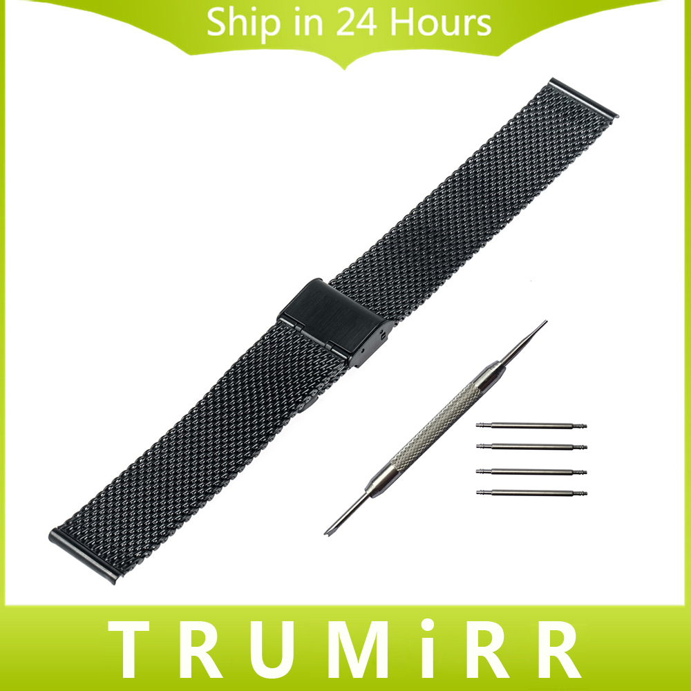 18mm 20mm Milanese Strap for DW (Daniel Wellington) Men Women Watch Band Mesh Stainless Steel Bracelet with Tool and Spring Bar<br><br>Aliexpress