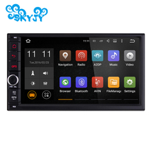 7 Inch Double 2 Din Quad Core 1024*600 Universal Car Audio Radio Android 6.0.1 Lollipop Car GPS Navigation Best Head Unit Car PC(China)