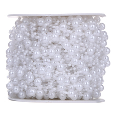 10 Meters Fishing Line Artificial Pearls Beads Chain Garland Flowers DIY Wedding Party Decoration Products Supply PTSP