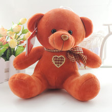 20CM Sitting Teddy Bear Cute Soft Plush Toys Dolls Heart Bowtie Teddy Bears Toy Children Birthday New Year Gifts
