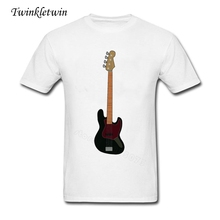 Jazz Bass Guitar Large Tees Man's Short Sleeve Tshirts Cheap Sale O Neck With 100% Cotton Tshirt Top Tees Good Quality XS-XXXL