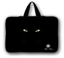 "12"" Black With Eyes Laptop Soft Carry Sleeve Bag Case For Samsung Google 11.6"" Chromebook,11.6"" Samsung ATIV Smart PC 500T 700T(China)"