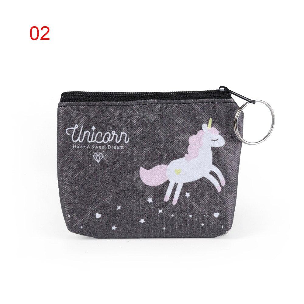 Retro Money Bag Unicorn,Dream Creatures Rainbows,Women Wallet Change Pouch