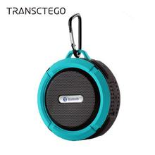 TRANSCTEGO Bluetooth Speaker outdoor Waterproof wireless support card stereo phone small speakers DustProof Suction Cup portable