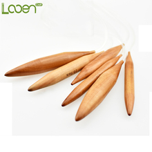 Looen Brand 15mm/20mm/25mm 3 Size Bamboo Crochet Hooks Carbonized Circular Wood Knitting Needles Set Double Pointed Yarn Needles(China)