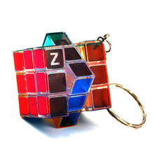 Treeby ZCUBE Luminous 3x3x3 Magic Cube Professional Mini Speed Puzzle Colorful Key Chain Educational Toys for Children Kids