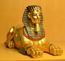 Egyptian Sphinx Ornaments Hand-painted Handicraft Modern Home Furnishing Safe Home Decor Christmas Gift Candle Holder